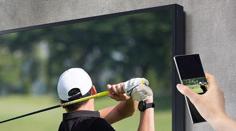Smart Tivi The Terrace QLED Samsung 4K 75 inch QA75LST7T - Tap View