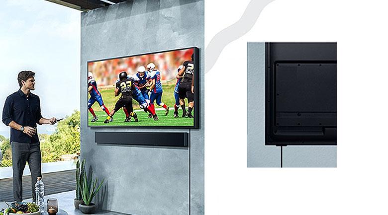 Smart Tivi The Terrace QLED Samsung 4K 75 inch QA75LST7T - cổng HDBase-T