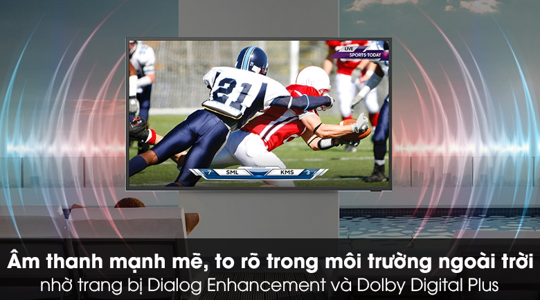 TIVI QLED Samsung QA65LST7T - Âm thanh lan tỏa mạnh mẽ với Dolby Digital Plus