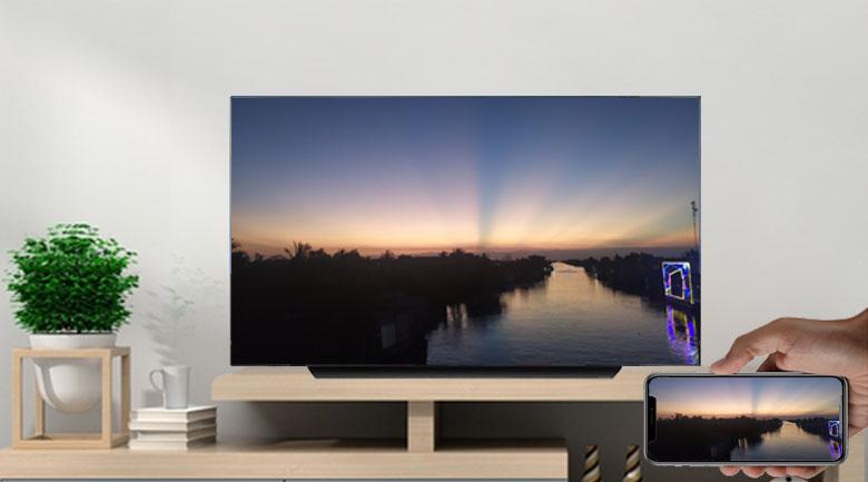 Smart Tivi OLED LG 4K 77 inch 77CXPTA - AirPlay 2 và Screen Mirroring