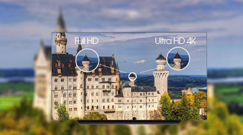 Smart Tivi OLED LG 4K 77 inch 77CXPTA - Độ phân giải 4K