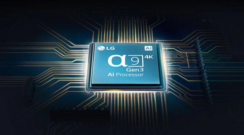 Smart Tivi OLED LG 4K 77 inch 77CXPTA - Chip xử lý thông minh α9 Gen 3