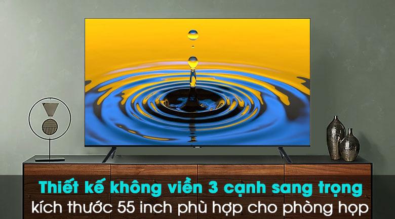 Smart Tivi Samsung 4K 55 inch UA55TU8000 - Thiết kế hiện đại