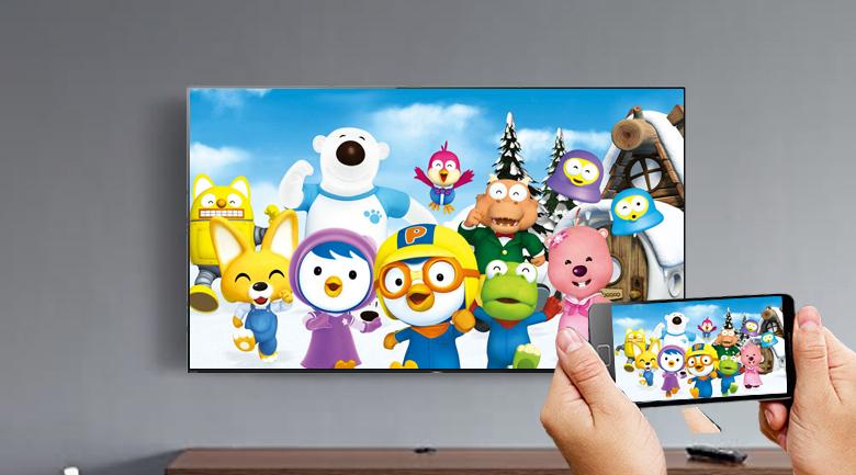 Android Tivi OLED Sony 4K 77 inch KD-77A9G - Chiếu màn hình điện thoại lên tivi