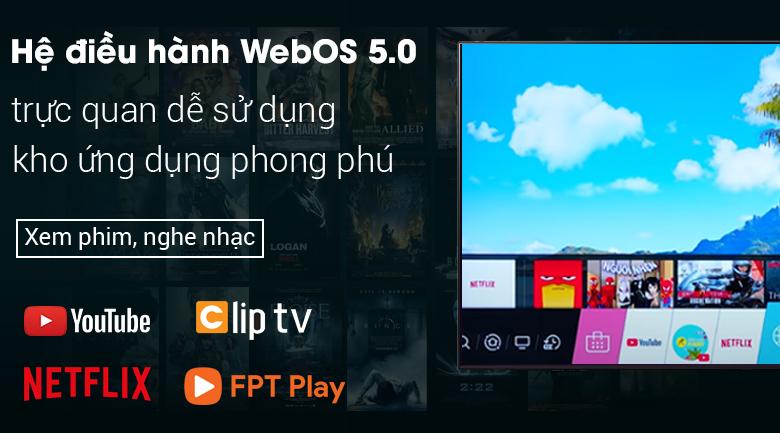 Smart Tivi NanoCell LG 4K 55 inch 55NANO79TND - Hệ điều hành WebOS