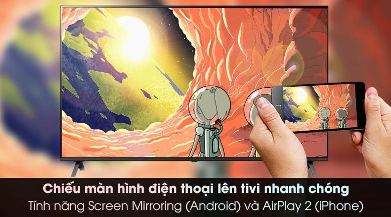 Smart Tivi NanoCell LG 4K 65 inch 65NANO79TND - Chiếu màn hình điện thoại lên tivi dễ dàng