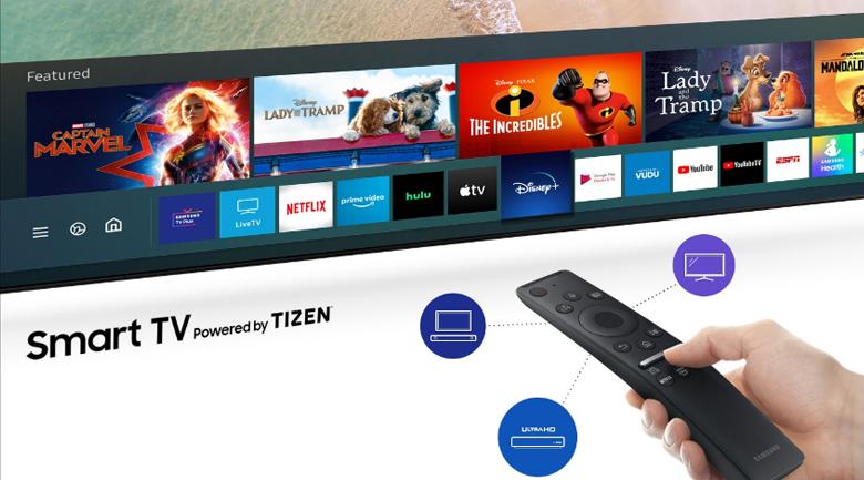 Remote thông minh - Smart Tivi Samsung 4K 65 inch UA65TU8000