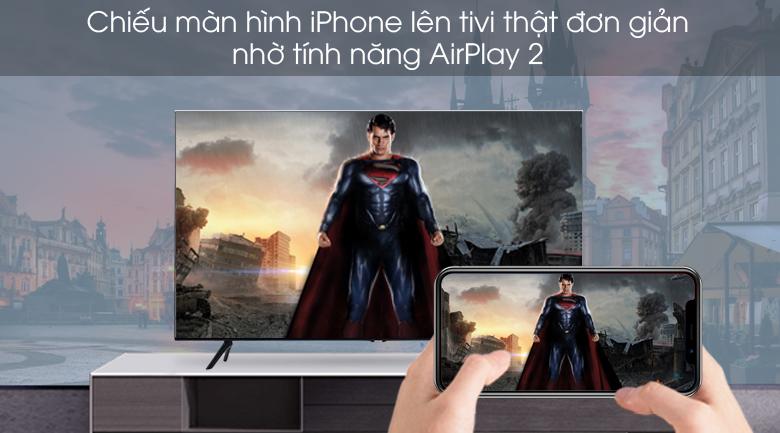 Trình chiếu AirPlay 2 - Smart Tivi Samsung 4K 65 inch UA65TU8000