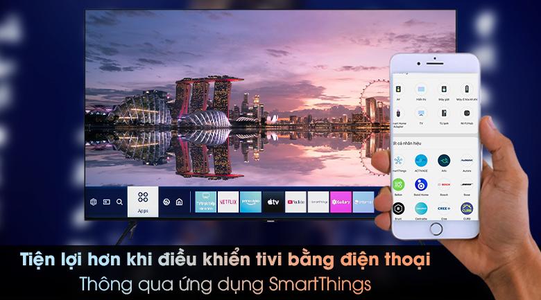 Smart Tivi Samsung 4K 50 inch UA50TU8000 - Điều khiển tivi bằng điện thoại qua ứng dụng SmartThings