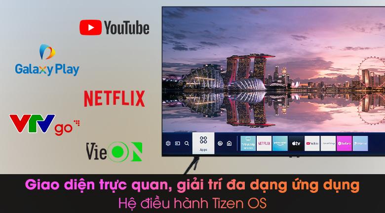 Smart Tivi Samsung 4K 43 inch UA43TU8000 - Hệ điều hành TizenOS