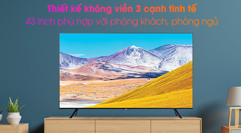 Smart Tivi Samsung 4K 43 inch UA43TU8000 - Thiết kế