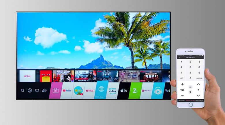 Smart Tivi OLED LG 4K 48 inch 48CXPTA -Điều khiển tivi bằng ứng dụng LG TV Plus