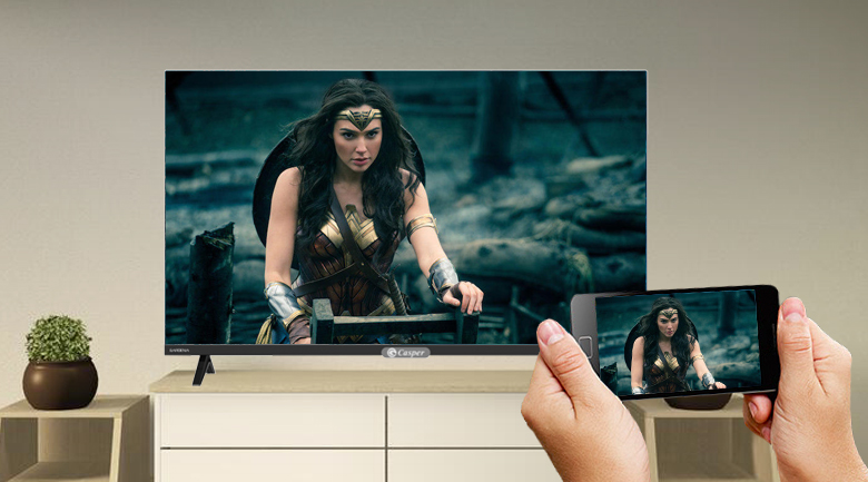Smart Tivi Casper 32 inch 32HX6200 - Trình chiếu màn hình điện thoại lên tivi dễ dàng cùng tính năng Screen Cast