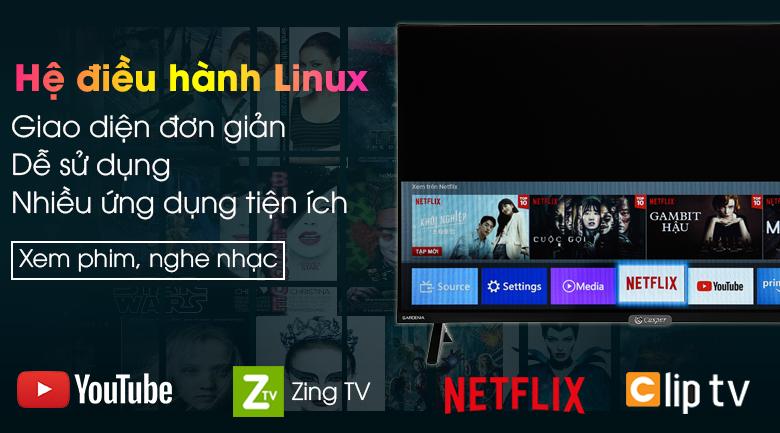Smart Tivi Casper 32 inch 32HX6200 - Giao diện đơn giản, nhiều ứng dụng hữu ích qua hệ điều hành Linux