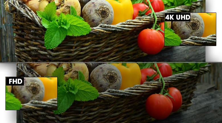 Smart Tivi Samsung 4K 70 inch UA70TU7000 - Độ phân giải Ultra HD 4K