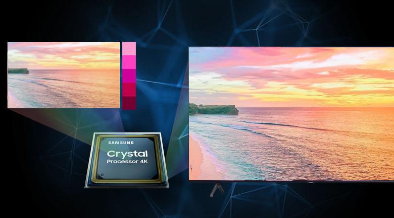 Smart Tivi Samsung 4K 70 inch UA70TU7000 - Hình ảnh sắc nét, màu sắc tự nhiên cùng bộ xử lý Crystal 4K