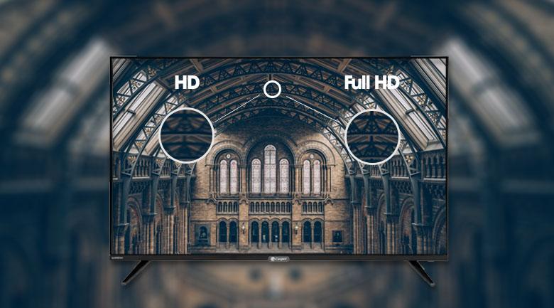 Hình ảnh sắc nét gấp 2 lần HD nhờ độ phân giải Full HD - Smart Tivi Casper 43 inch 43FX6200