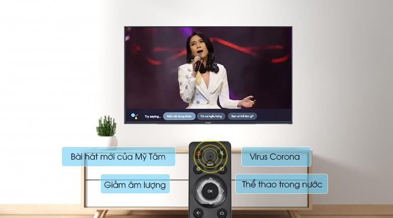 Smart Tivi Casper 43 inch 43FG5200 - Điều khiển, tìm kiếm bằng giọng nói tiếng Việt cùng trợ lý ảo Google Assistant, remote thông minh