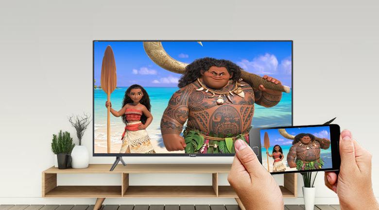 Smart Tivi Casper 43 inch 43FG5200 - Trình chiếu màn hình điện thoại lên Android tivi Casper dễ dàng cùng tính năng Chromecast