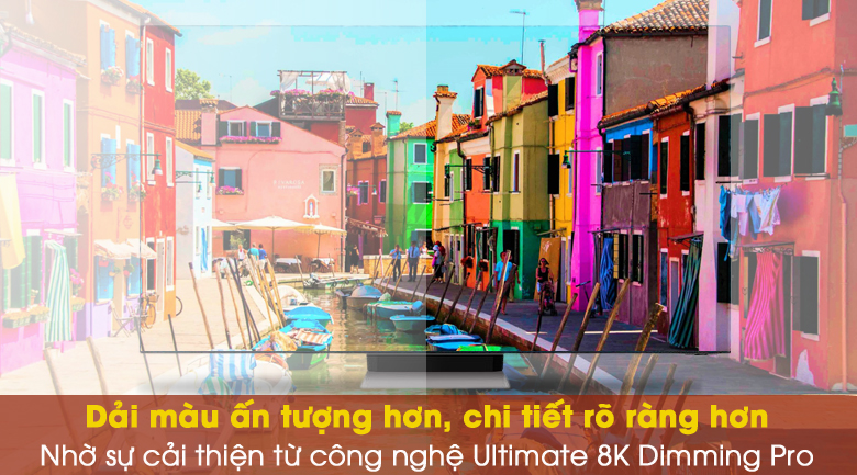 Tăng chi tiết hình ảnh và độ tương phản với Ultimate 8K Dimming Pro