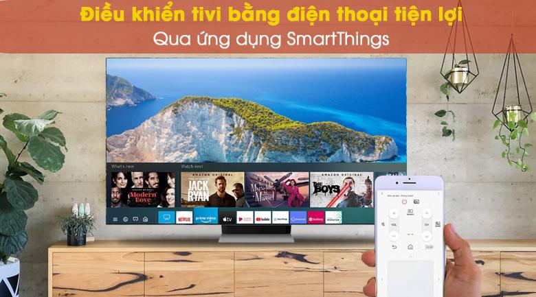Điều khiển tivi với ứng dụng SmartThings