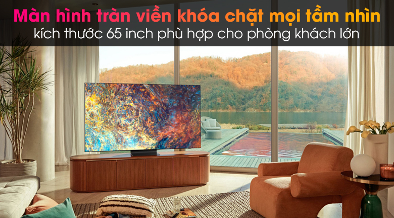Tivi Neo QLED 8K Samsung QA65QN900A - Thiết kế Infinity One đẹp tối giản, màn hình tràn viền 65 inch