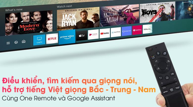 Tivi Neo QLED 8K Samsung QA65QN900A - Tìm kiếm, điều khiển giọng nói, hỗ trợ tiếng Việt (giọng Bắc - Trung - Nam) cùng One Remote và Google Assistant