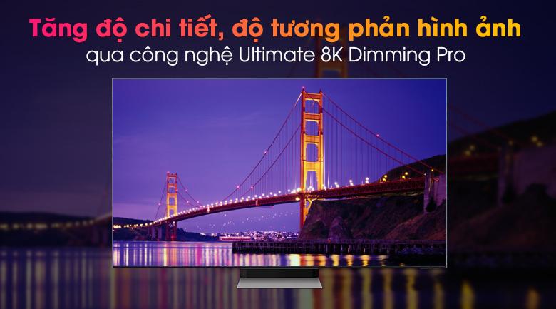 Tivi Neo QLED 8K Samsung QA65QN900A - Tăng cường chi tiết cảnh quay bằng thuật toán qua công nghệ Ultimate 8K Dimming Pro