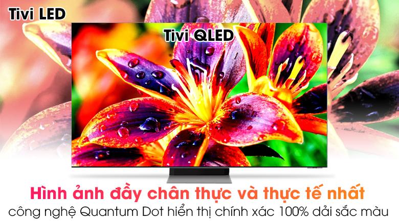 Tivi Neo QLED 8K Samsung QA65QN900A - Hiển thị 100% dải màu sắc cho hình ảnh chân thật hơn với công nghệ chấm lượng tử Quantum Dot