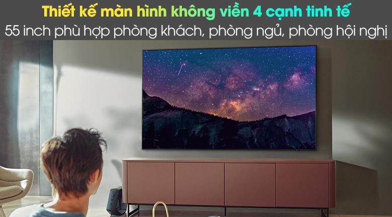 Smart Tivi Neo QLED 4K 55 inch Samsung QA55QN85A - Thiết kế màn hình không viền 4 cạnh tinh tế
