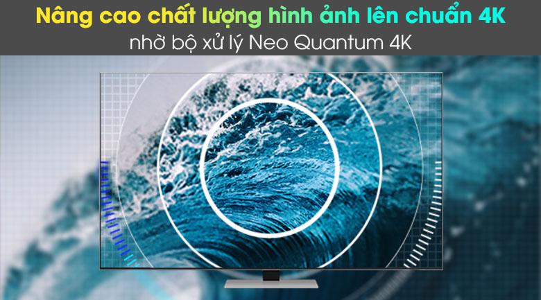 Smart Tivi Neo QLED 4K 55 inch Samsung QA55QN85A - Thưởng thức khung hình chất lượng chuẩn 4K nhờ bộ xử lý Quantum 4K với Trí Tuệ Nhân Tạo AI