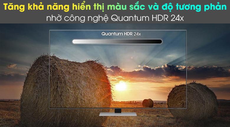 Smart Tivi Neo QLED 4K 55 inch Samsung QA55QN85A - Tăng khả năng hiển thị màu sắc và độ tương phản với công nghệ Quantum HDR 24x