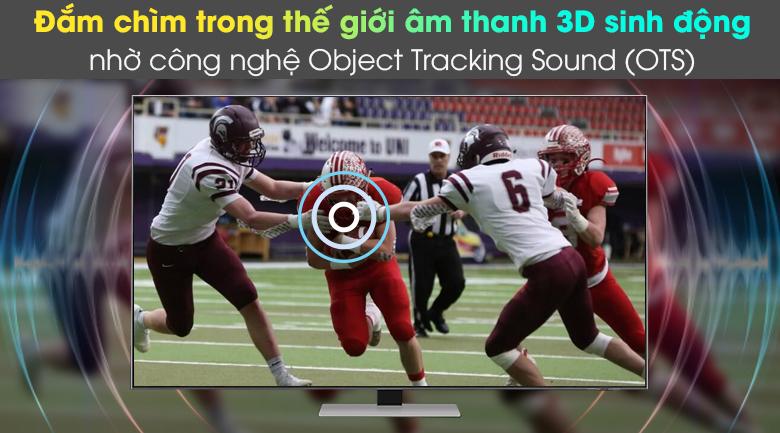 Smart Tivi Neo QLED 4K 55 inch Samsung QA55QN85A - Đắm chìm trong thế giới âm thanh 3D sinh động nhờ công nghệ Object Tracking Sound (OTS)