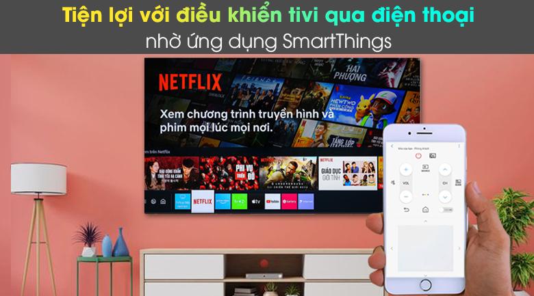 Smart Tivi Neo QLED 4K 55 inch Samsung QA55QN85A - Tiện điều khiển tivi qua điện thoại với ứng dụng SmartThings