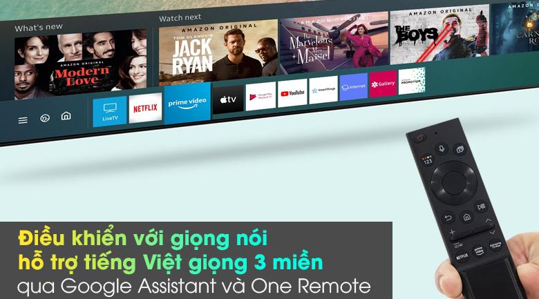 Smart Tivi Neo QLED 4K 55 inch Samsung QA55QN85A - Điều khiển với giọng nói hỗ trợ tiếng Việt giọng 3 miền Bắc - Trung _ nam qua One Remote và Google Assistant