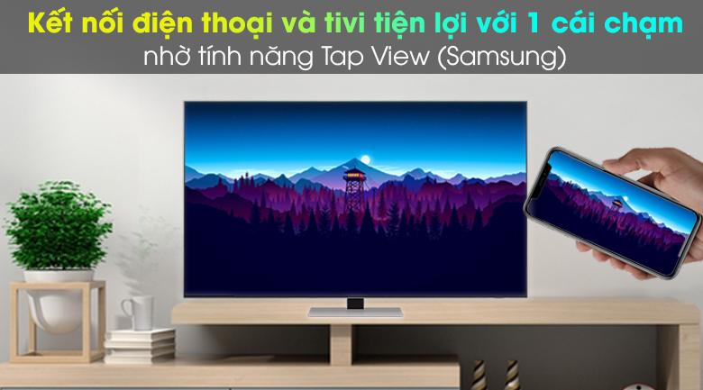 Smart Tivi Neo QLED 4K 55 inch Samsung QA55QN85A - Hỗ trợ chiếu màn hình điện thoại lên tivi qua tính năng AirPlay 2 và Tap View