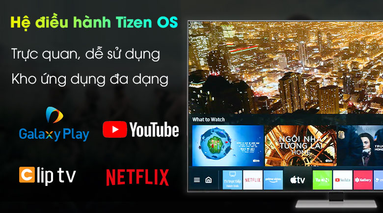 Hệ điều hành Tizen OS - Smart Tivi Neo QLED 4K 65 inch Samsung QA65QN85A