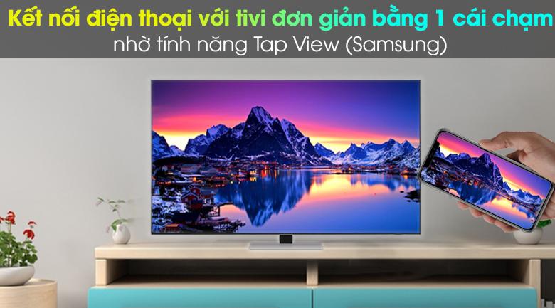 AirPlay 2 (thiết bị Apple) và Tap View (Samsung) - Smart Tivi Neo QLED 4K 65 inch Samsung QA65QN85A