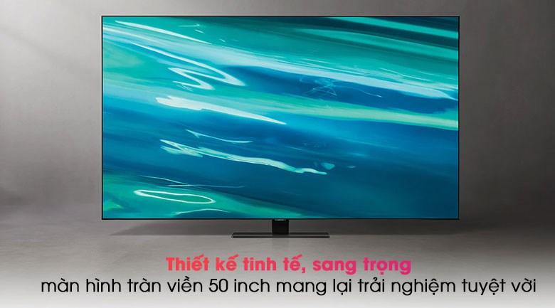 Smart Tivi QLED 4K 50 inch Samsung QA50Q80A -  Thiết kế