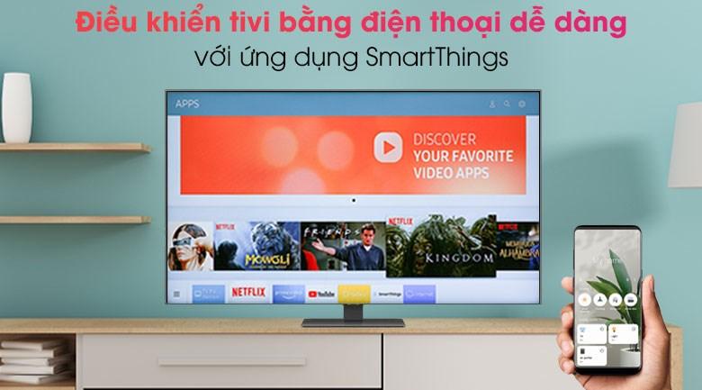Smart Tivi QLED 4K 50 inch Samsung QA50Q80A - SmartThings