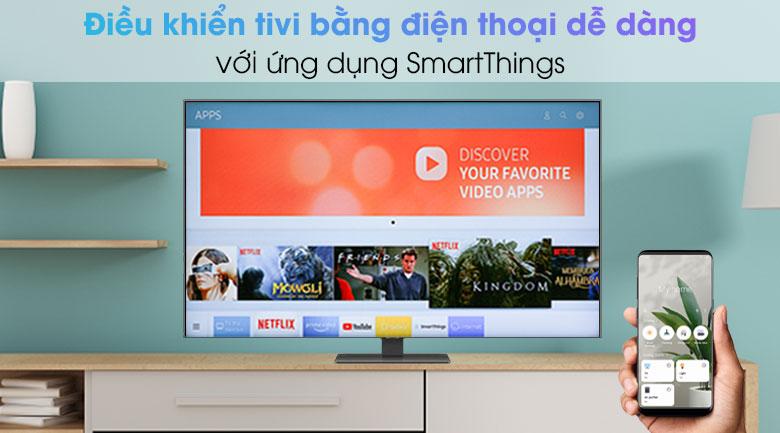 Smart Tivi QLED 4K 55 inch Samsung QA55Q80A - SmartThings
