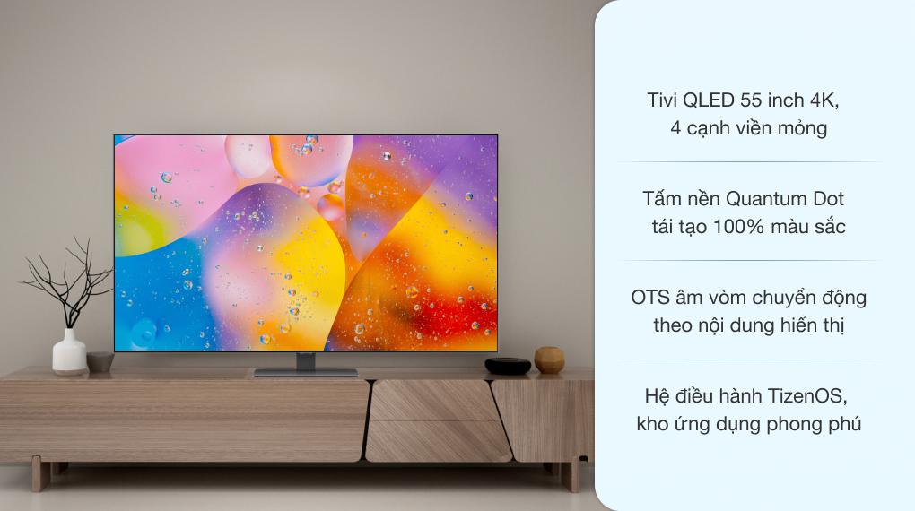 Smart Tivi QLED 4K 55 inch Samsung QA55Q80A