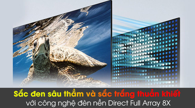 Smart Tivi QLED 4K 65 inch Samsung QA65Q80A - Đèn nền