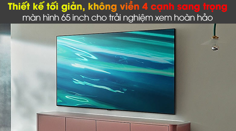 Smart Tivi QLED 4K 65 inch Samsung QA65Q80A Thiết kế