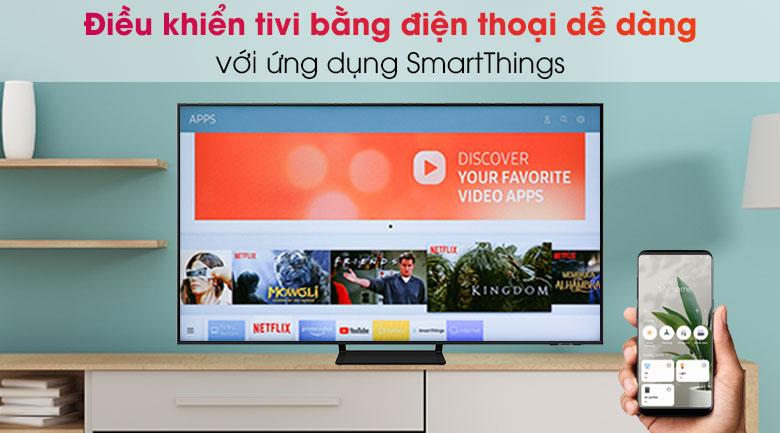 Smart Tivi QLED 4K 55 inch Samsung QA55Q70A  - SmartThings