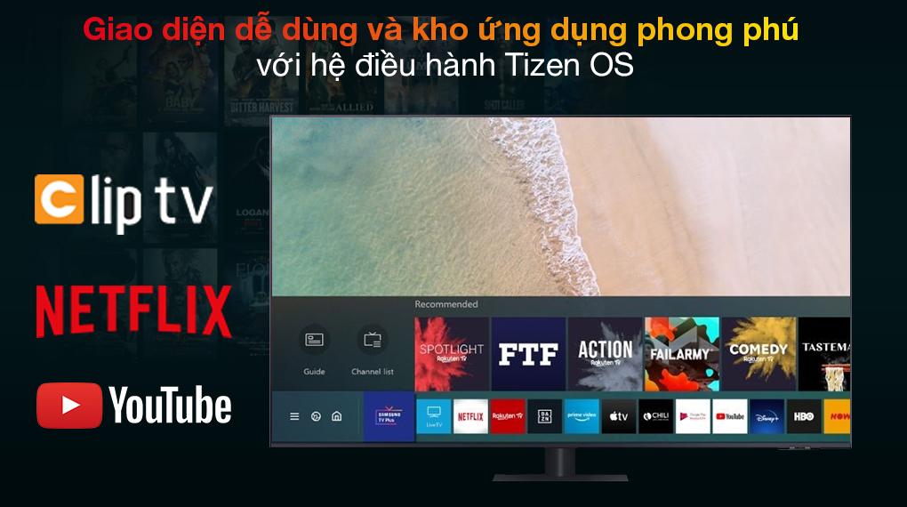 Smart Tivi QLED 4K 55 inch Samsung QA55Q70A Tizen OS
