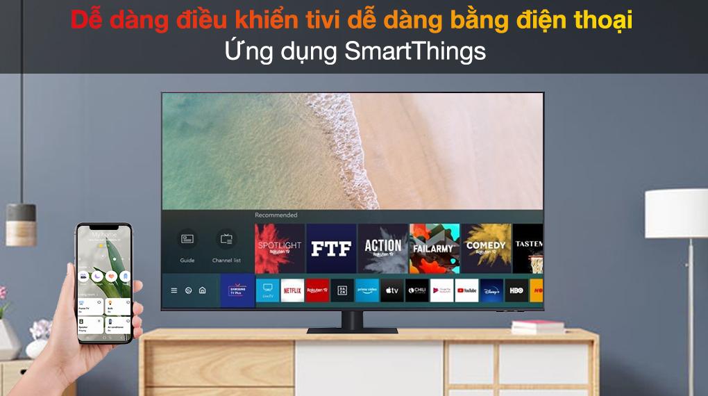 Smart Tivi QLED 4K 55 inch Samsung QA55Q70A SmartThings