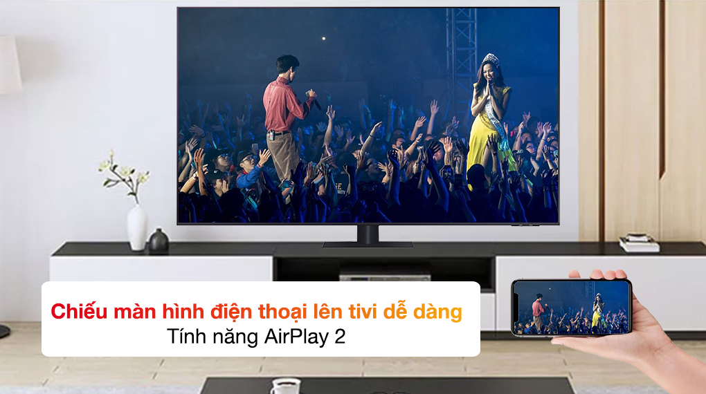 Smart Tivi QLED 4K 55 inch Samsung QA55Q70A Airplay 2