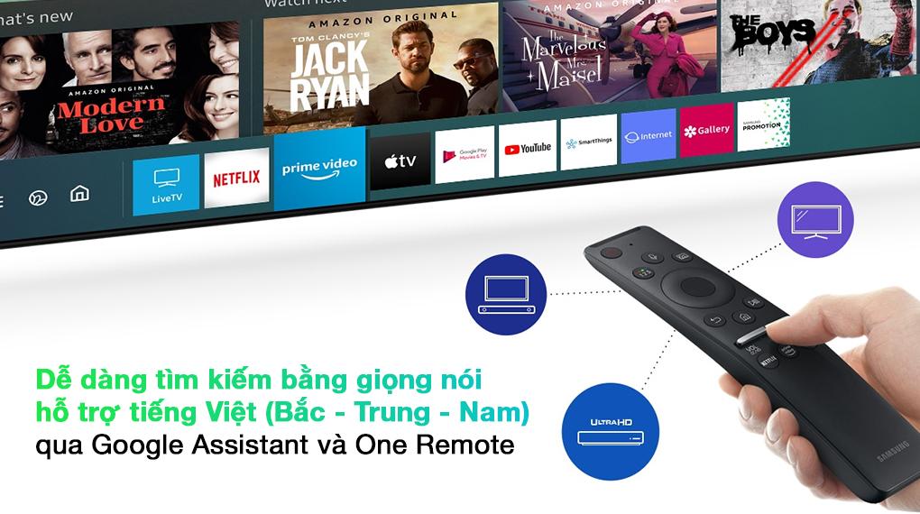 Smart Tivi QLED 4K 65 inch Samsung QA65Q70A Google Assistant và One Remote