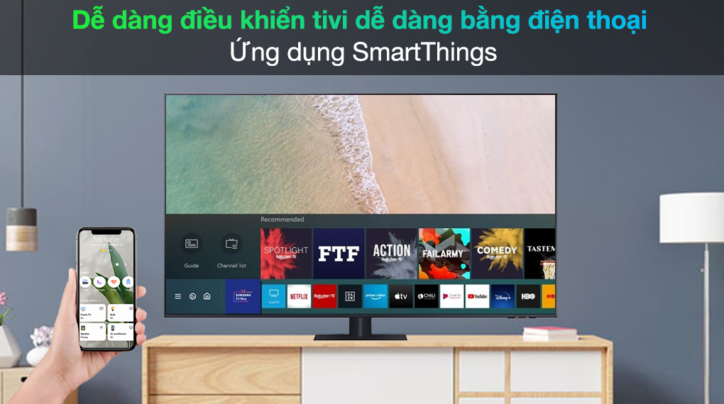 Smart Tivi QLED 4K 65 inch Samsung QA65Q70A SmartThings